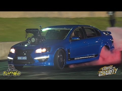 "SUPERCHARGED COMMODORE ""WIDE OPEN"" RIPS IT UP AT CRUISE FOR CHARITY"