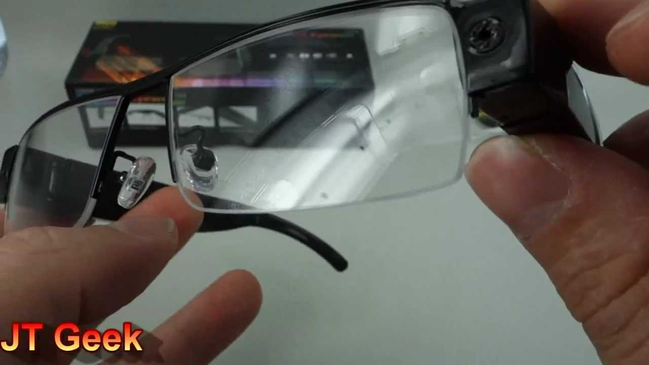 ad7fa2c8f66c5 Lunette Camera espion HD Test par le JT Geek - YouTube
