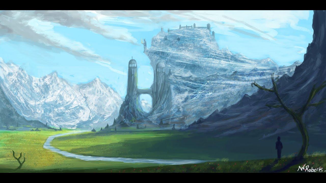 fantasy landscape - speed painting - youtube
