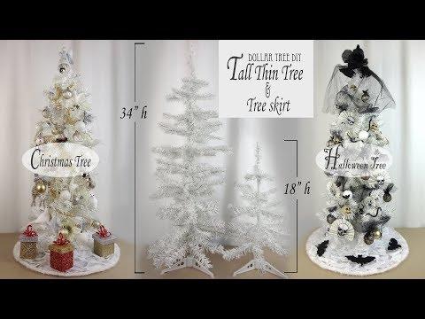Christmas & Halloween Tree DIY / Dollar Tree DIY / Xmas Tree Skirt DIY