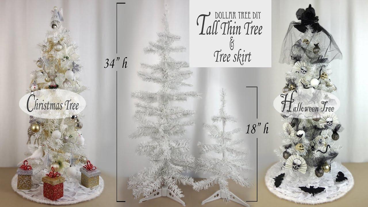 Christmas \u0026 Halloween Tree DIY / Dollar Tree DIY / Xmas Tree Skirt DIY