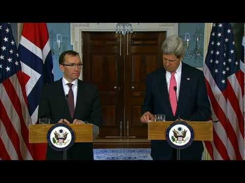 Secretary Kerry Delivers Remarks With Norwegian Foreign Minister Eide
