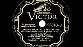 1931 HITS ARCHIVE: You're My Everything - Arden-Ohman Orchestra (Frank Luther, vocal) YouTube Videos