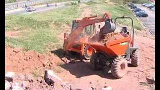 AUSA Construction Backhoe Loader RC5 with Dumper