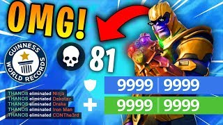 81 KILLS BY THANOS?! *NEW* WORLD RECORD! (Fortnite Highlights & Funny Moments 2018)