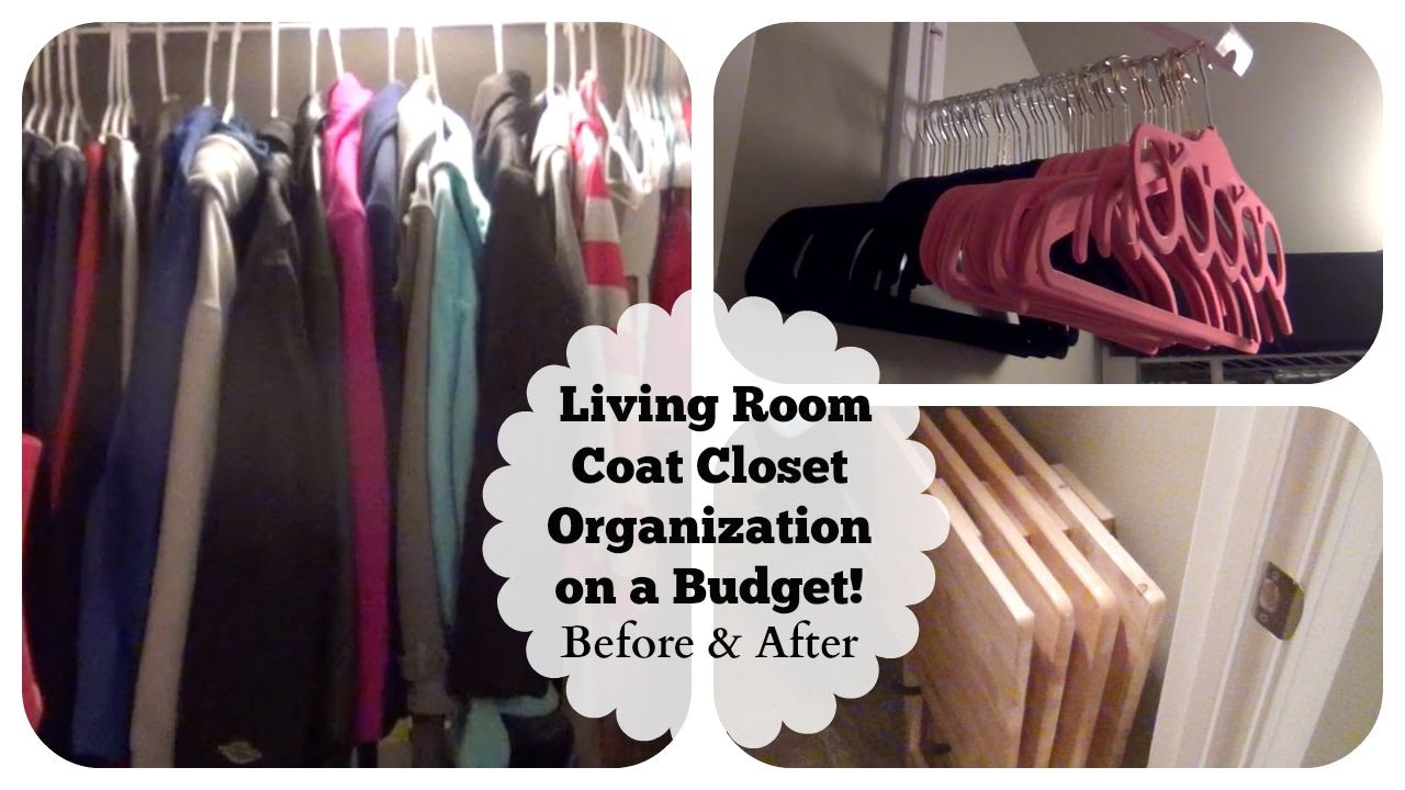 Small Under The Stairs Living Room Coat Closet Organization On A Budget!  Before U0026 After!   YouTube