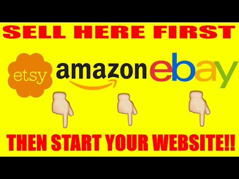 How to start an Ebay Store Series: Sell here first then open your website