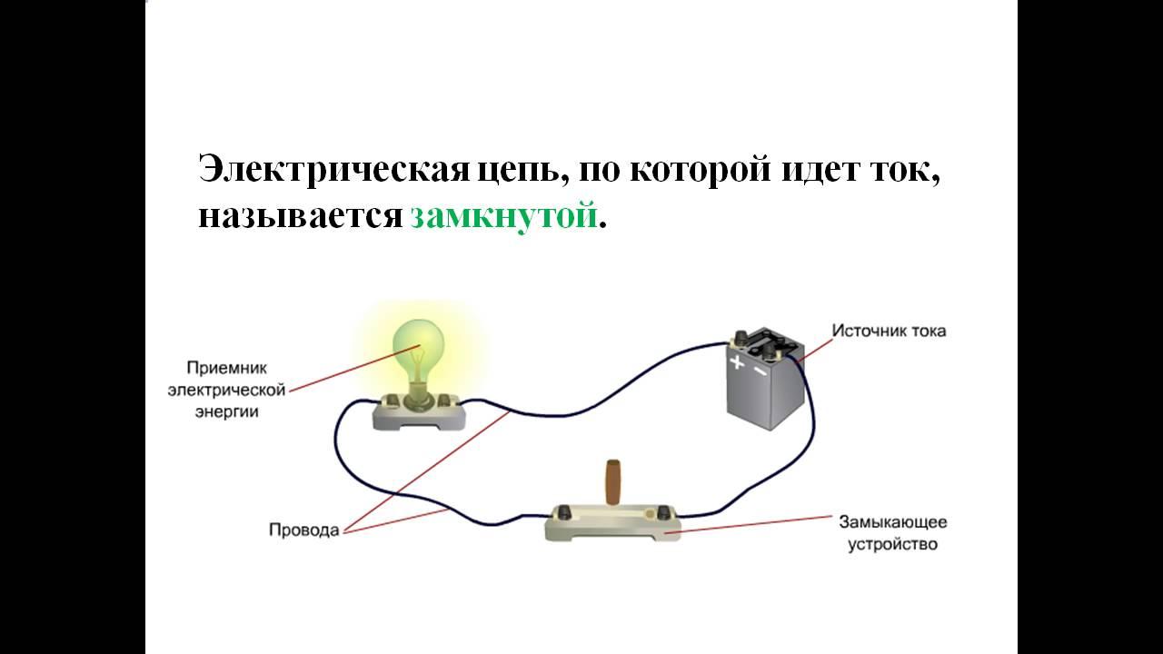 Электрическая цепь схема 1 класс фото 131