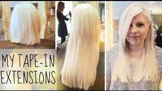 Tape In Hair Extensions / My Experience