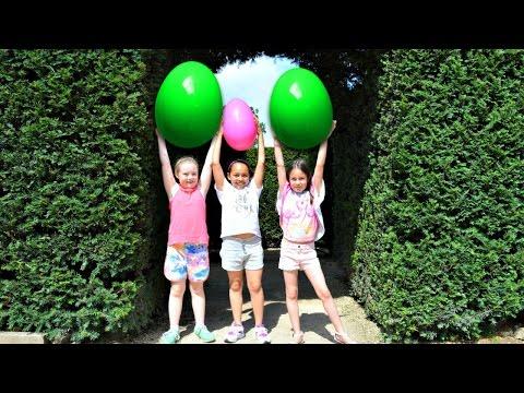 Giant Egg Hunt In A Maze - Huge Surprise Eggs Toy Challenge - Disney Toys Surprises