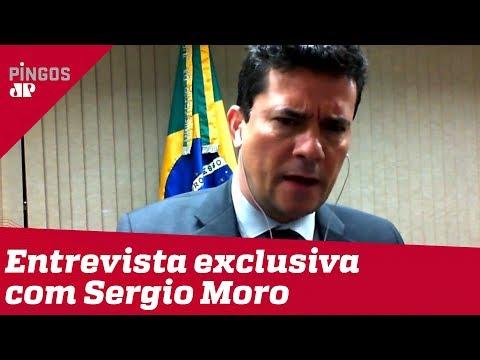 Moro fala à Jovem Pan sobre projeto anticrime, Lava Jato e Bolsonaro