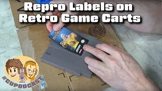 Repro Labels on Retro Game Carts - What