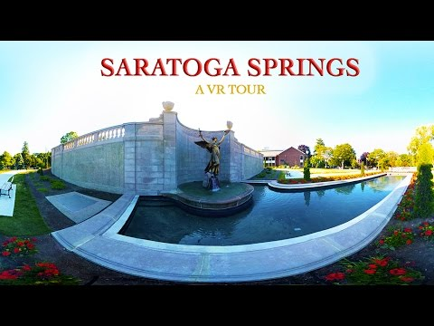 An eolian VR tour of Saratoga Springs, NY