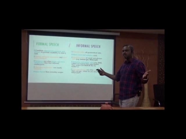 Formal and Informal speech