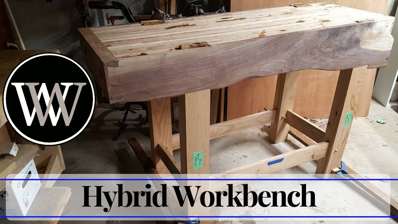 Hand Tool Woodworking Bench 4 - Wood By Wright Roubo English Hybrid Workbench - YouTube