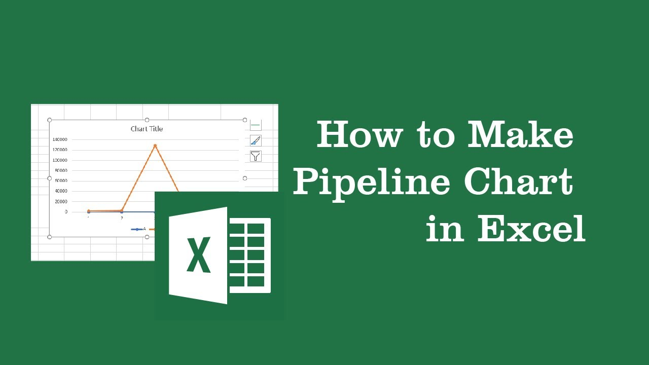 how to make pipeline chart in excel