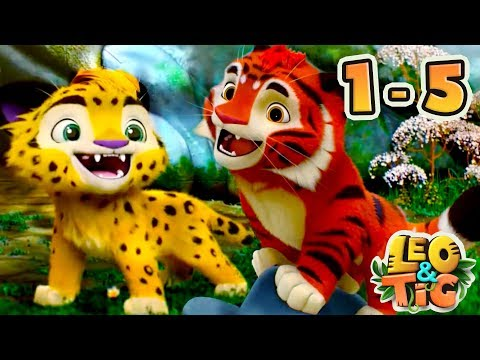 Leo and Tig - All Episodes compilation (1-5) - New animated movie 2017 - Kedoo ToonsTV