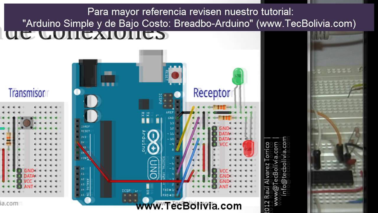 Arduino Intermedio Comunicacion Inalámbrica Con Módulos Rf Ask