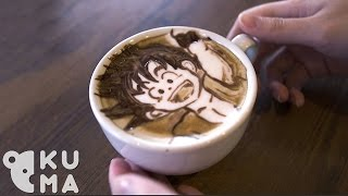 His 2D/3D Latte Art Skills Are Over 9000!