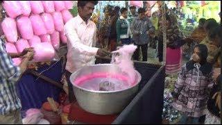 Children's Favorite  Candy floss - Cotton Candy | Shyamnagar Poush Mela | Indian Street Food Kolkata