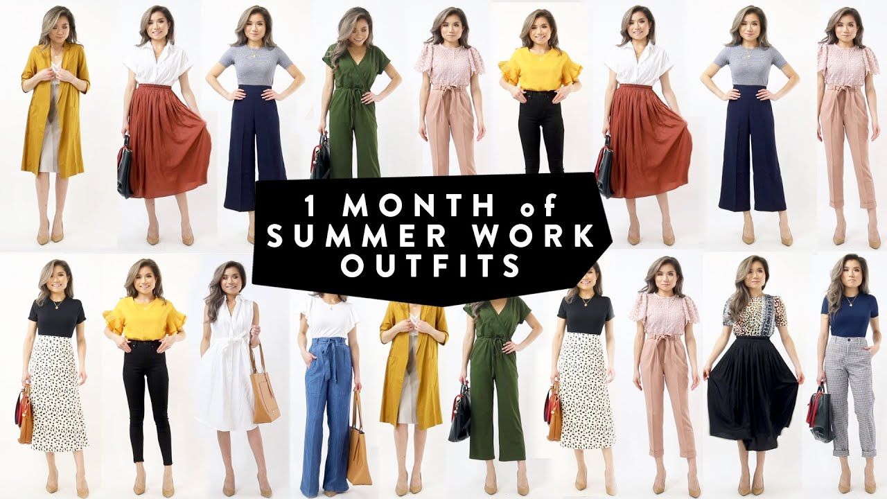 20 MONTH of Summer WORK OUTFIT Ideas  Business Casual Work Office Wear  Lookbook  Miss Louie