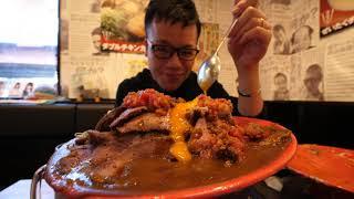【大食い】総重量約6㎏ 贅沢チーズのキーマカレー&ローストビーフカレー【デカ盛り】