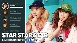 Girls' Generation - Star Star Star (Line Distribution + Lyrics Color Coded) PATREON REQUESTED