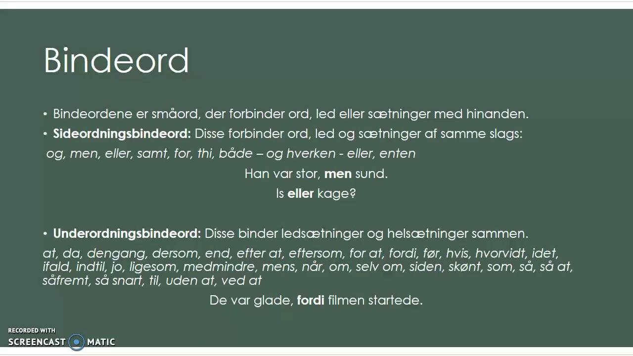 Bindeord