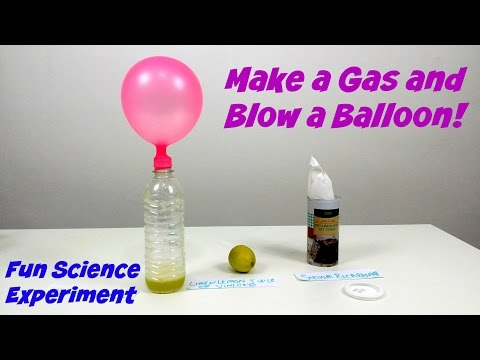 Make a Gas and Blow a Balloon  | Amazing Science Experiments For Kids | Educational Learning