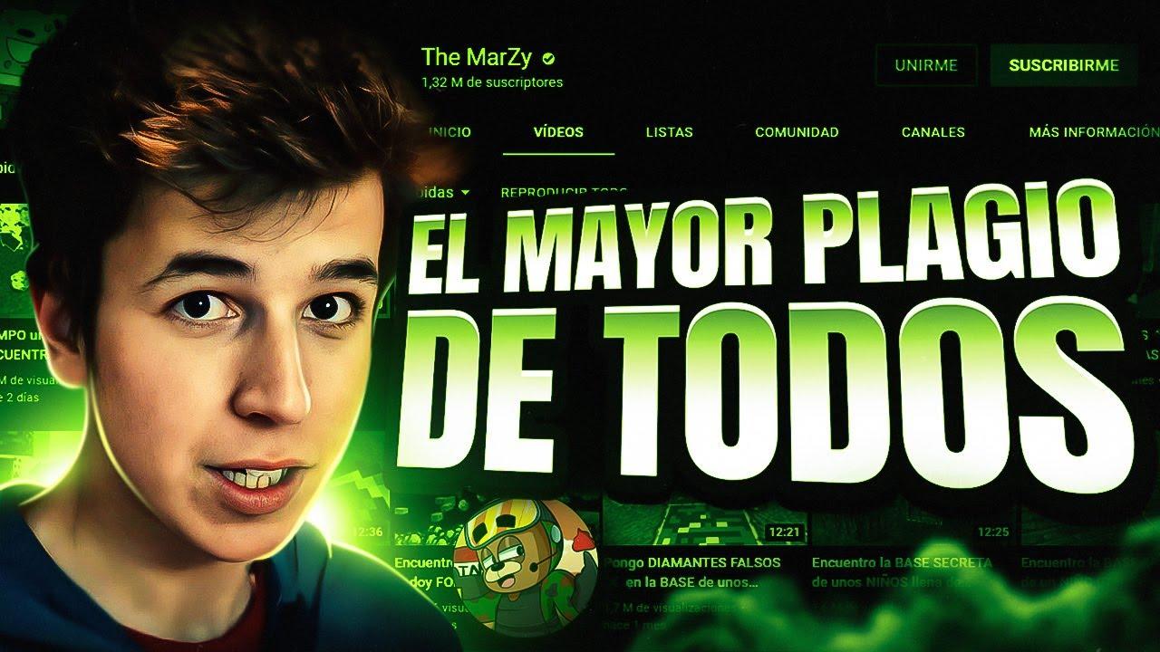 Este YOUTUBER de MINECRAFT se hizo FAMOSO COPIANDO VIDEOS | The Marzy