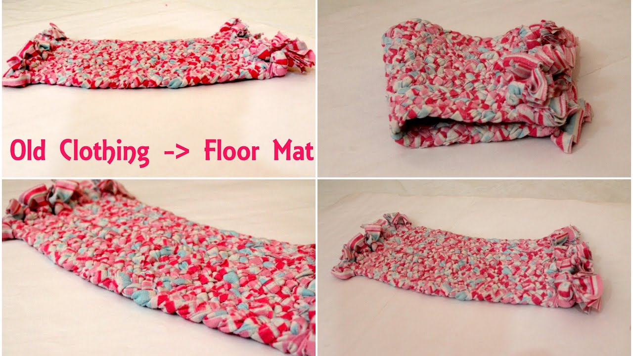 Best Out Of Waste Make A Door Mat Or Floor Mat Using Old