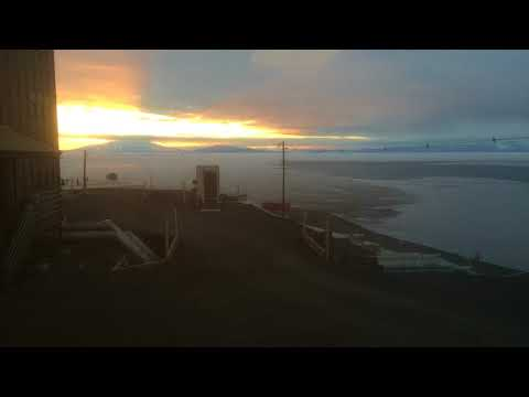 First sunset at McMurdo station 2017