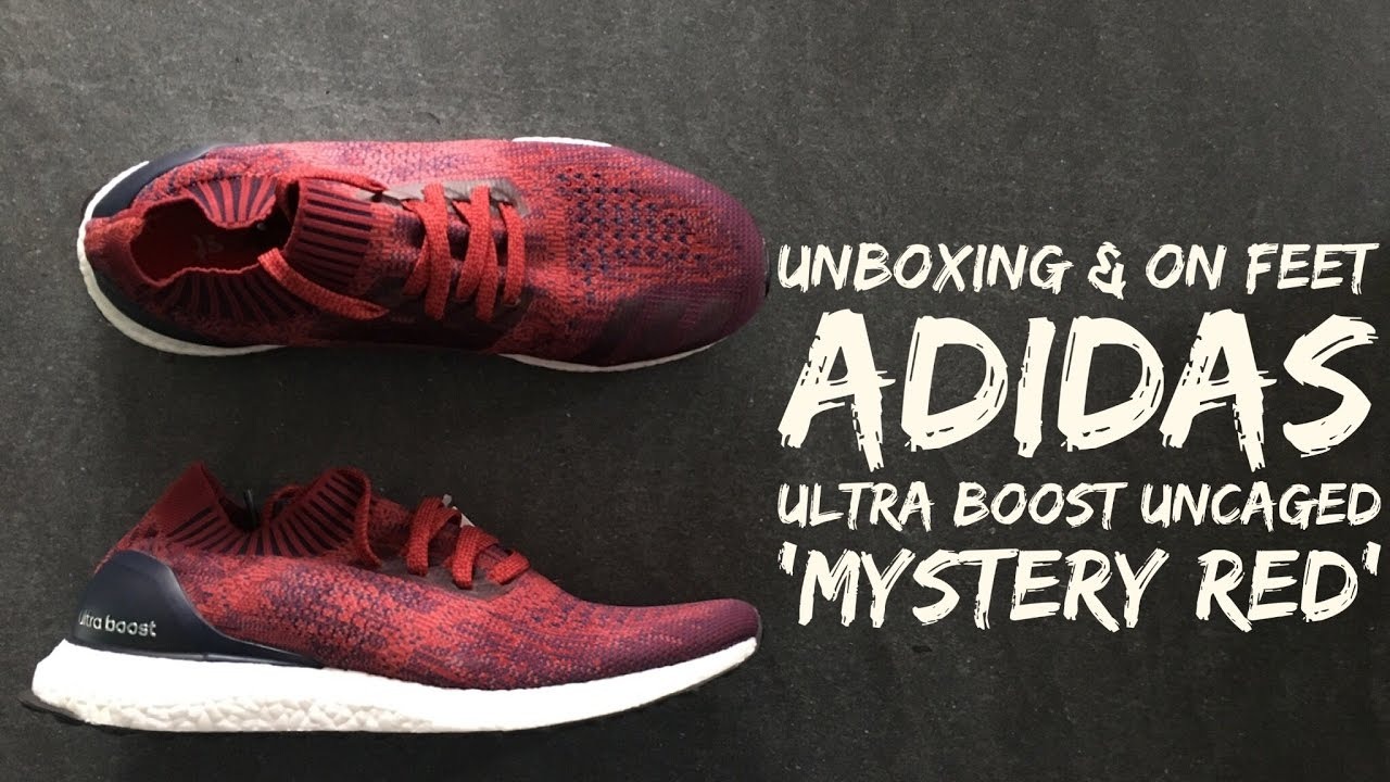 45337097638 Adidas Ultra Boost Uncaged 'Mystery Red' | UNBOXING & ON FEET | fashion  shoes | 2016 | HD