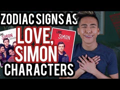 Zodiac Signs as Love, Simon Characters