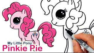 How to Draw My Little Pony Pinkie Pie Cute and Easy