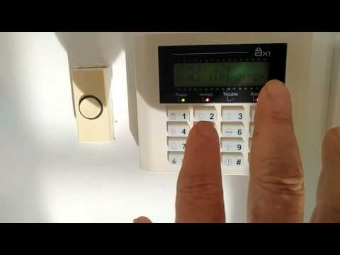 Alarm system AX1 - disarm alarm and clear alarm