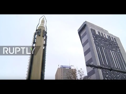 Iran: Tehran displays ballistic missile outside fmr US embassy on National Day against Arrogance