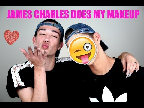 JAMES CHARLES DOES MY MAKEUP!