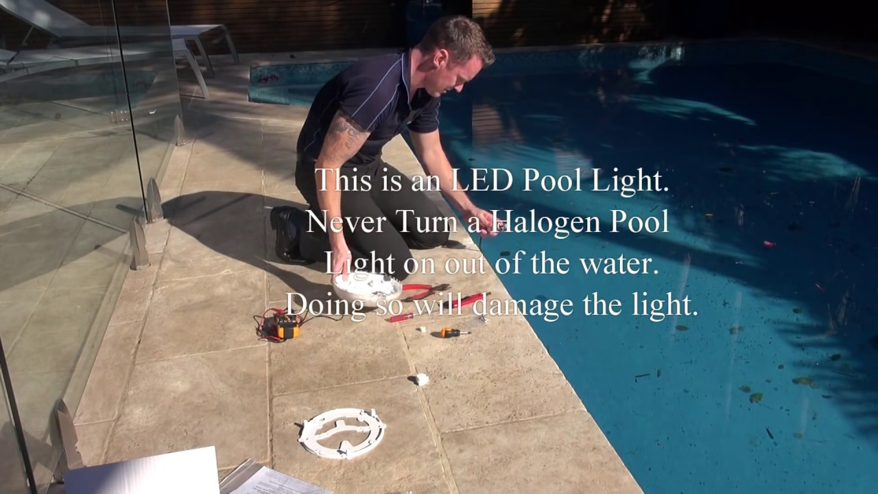 Replacing Pool Lights Youtube Light Wiring