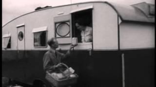 Pathe news Herne Bay.  Reculver caravans