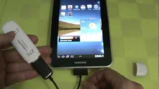 Samsung Galaxy Tab 7.0 - GT-P6210 - Tentando Conectar Modem 3G via Adaptador USB - PT-BR(Neste segundo vídeo mostro o que acontece quando tentamos conectar um outro modem 3G no Galaxy TAB., 2012-12-07T02:14:17.000Z)