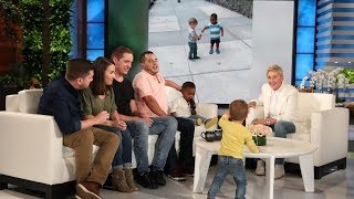 Ellen Meets Adorable Viral Hugging Toddlers