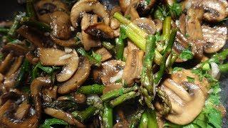 Рецепт! Идеальный гарнир из спаржи и грибов | Очень вкусно! | #62