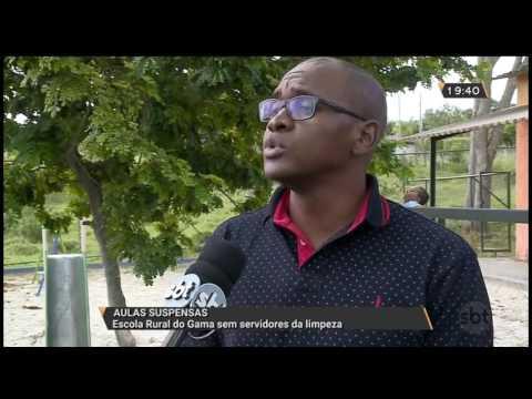 Escola Rural do Gama sem servidores da limpeza