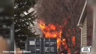 Raw: West Kelowna house fire