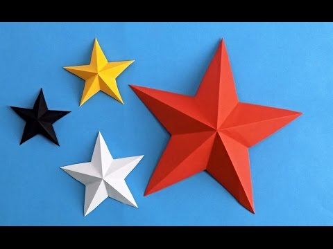 Как сделать объемную звезду из бумаги пятиконечная звезда