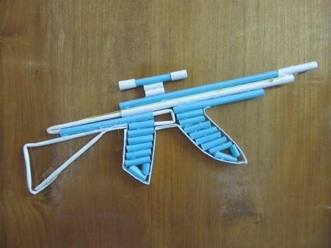paper ak 47 Make a paper gun that shoots 10 rubber bands find this pin and more on kid crafts by aliciamcb make a paper ak-47 gun that shoots 10 rubber bands see more.
