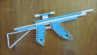 How To Make A Paper AK-47 Gun That Shoots - With Trigger