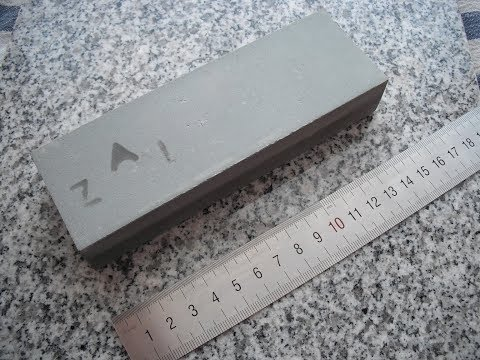 Silicon carbide / carborundum sharpening stone made by ZAI - Berkovitsa / 2017 Full HD