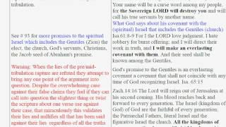101 PreTribulation Lies, Lie 16 God Will Restore Ethnic Israel When The Church Is Raptured